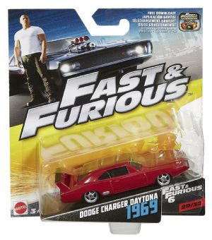 Fast & Furious 1:55th Die-Cast Vehicle Dodge Charger Daytona 1969 - FCN86